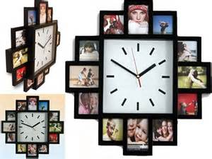 12 Multi Size Photo Picture Frame Wall Clock Collage
