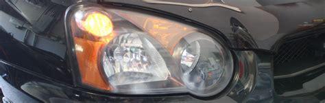 replace the front parking light bulbs on a subaru impreza wrx