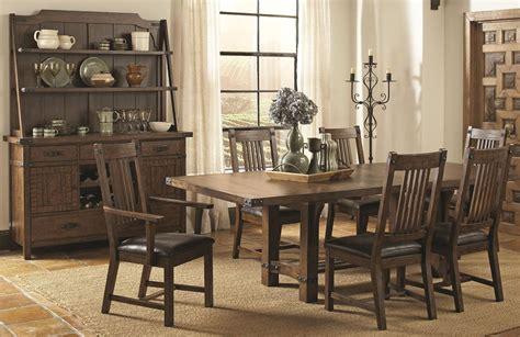 padima rustic rough sawn rectangular extendable dining