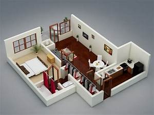 50 one 1 bedroom apartment house plans architecture With how to decorate a one bedroom apartment