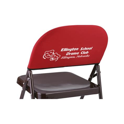 reserved seating imprinted chairs chair back cover