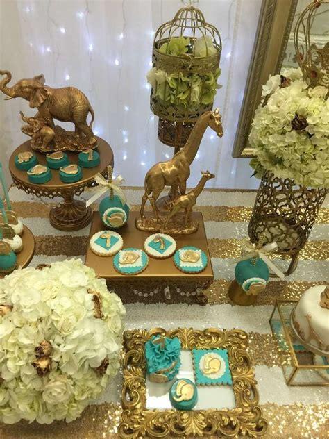 elegant safari baby shower catchmypartycom golden