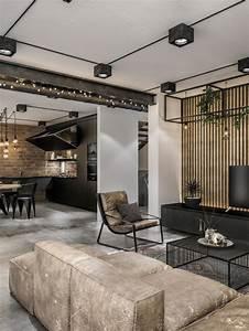 Modern, Loft, In, Kaunas, Industrial, Style, Wrapped, In, Unpretentious, Lighting