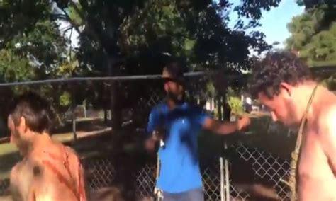 video white folks paint whip marks   backs