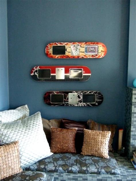 ideas  upcycled furniture design skateboard parts