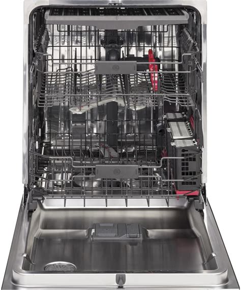 ge cdtssjss fully integrated dishwasher    cleaning jets piranha food disposer