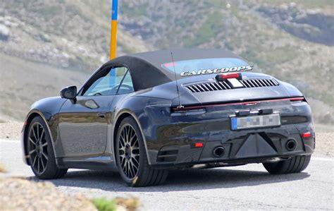 new porsche 911 sun s out guns out next porsche 911 cabrio spied