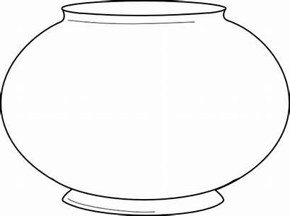 Bowl Fish Coloring Printable Pages Template Fishbowl