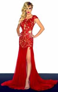 red evening gowns with lace prom stores