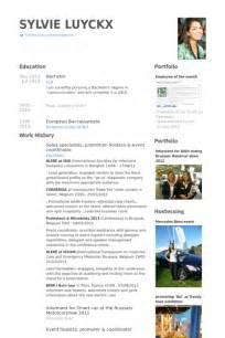 event coordinator resume sles visualcv resume sles