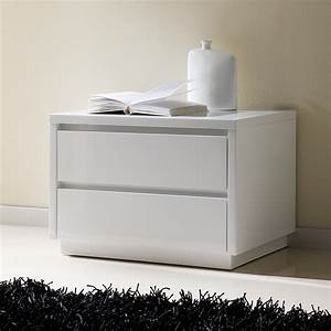 Table de chevet design laquee blanche tobia zd1 chv a d for Table de nuit moderne