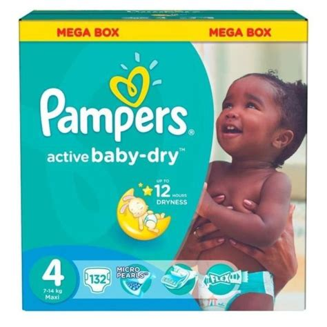 Buy Pampers Active Baby Dry Diapers Size 4 132 Count