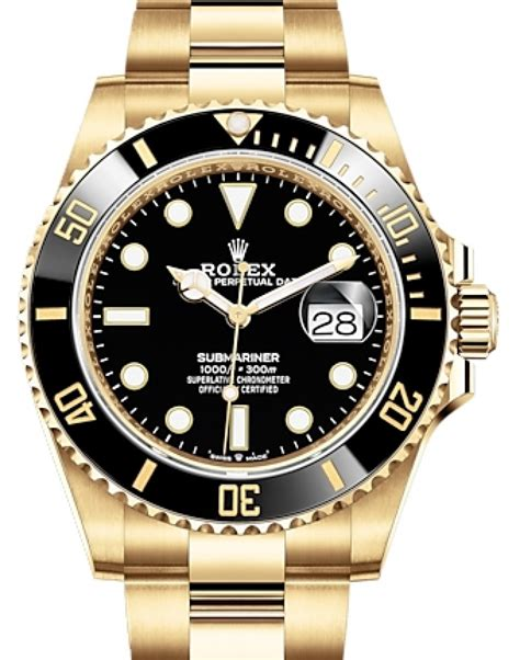 Rolex Submariner Date Yellow Gold Black 41mm Dial ...