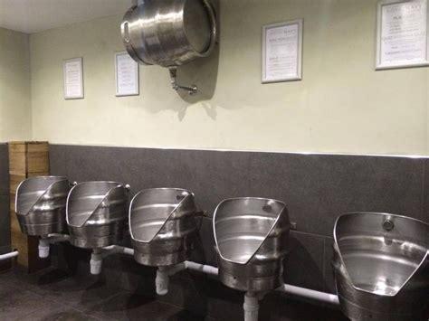 keg urinals beer lifes blood pub decor tap room