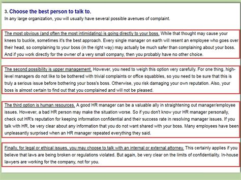 How To Write A Complaint Letter To Human Resources (with