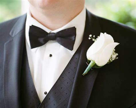 single white rose boutonniere