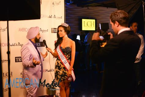 Highlights from the mac duggal fashion show. Mac Duggal being interviewed on the red carpet | Model ...