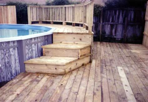 Above Ground Swimming Pool Steps Deck by 1000 Images About Pools Tiki Bars On Pool