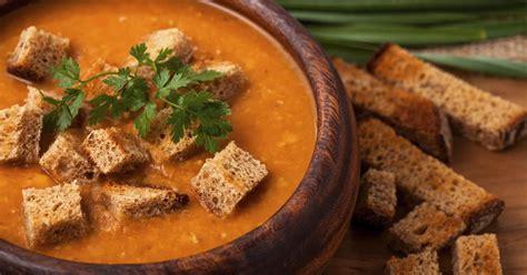 recette soupe de lentilles corail  ses croutons de