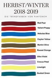 Farben Herbst 2018 : das sind die farben der herbst winter saison 2018 2019 werbung ~ One.caynefoto.club Haus und Dekorationen