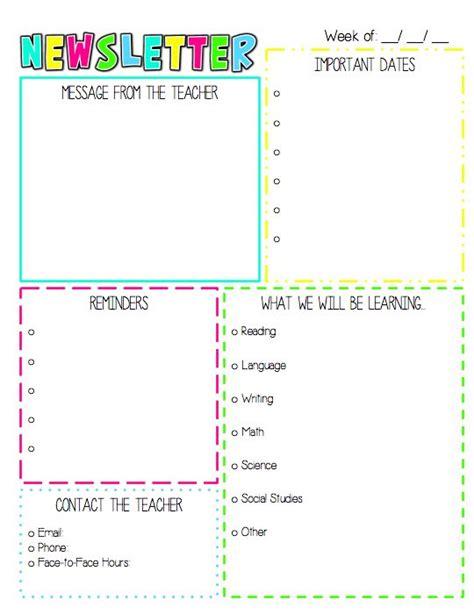 weekly newsletter template the 25 best preschool lesson plan template ideas on pre school lesson plans sle
