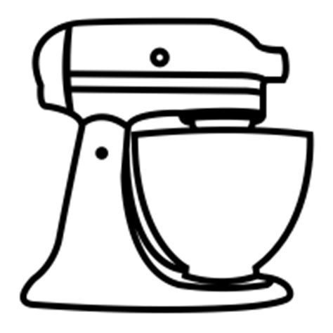 Kitchen Aid Mixer Decal by Image Gallery Mixer Drawing