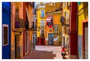 Villajoyosa Street  Spain Photography  Villajoyosa  Fine Art Photography  Signed Print  Colorful