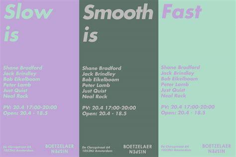 jack brindley slow  smooth  fast