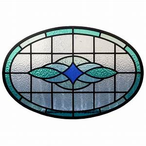 Round Contemporary Stained Glass Panel - From Period Home