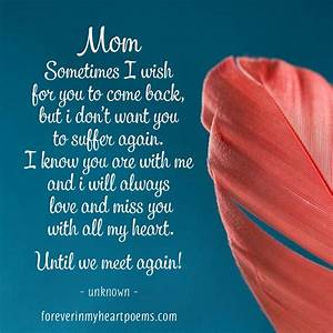 50 Best 'Missing My Mom' Quotes From Daughter & Son - I ...