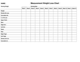 weight loss log printable
