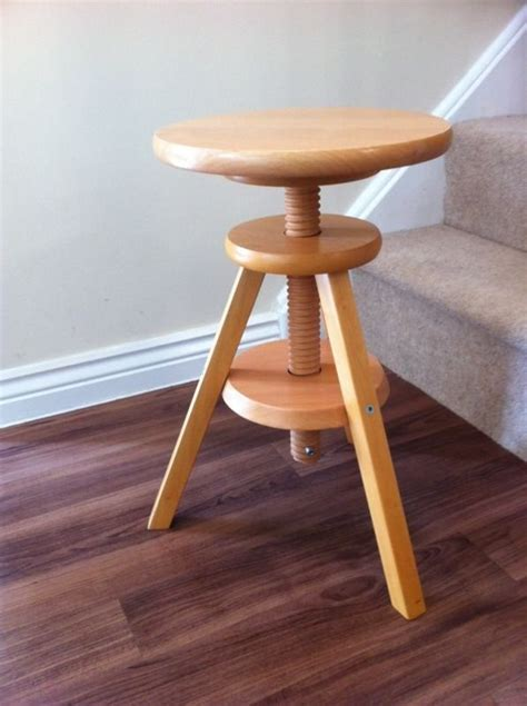 wooden stool ikea ikea 3 legged wooden stool adjustable seat height in coventry west midlands gumtree
