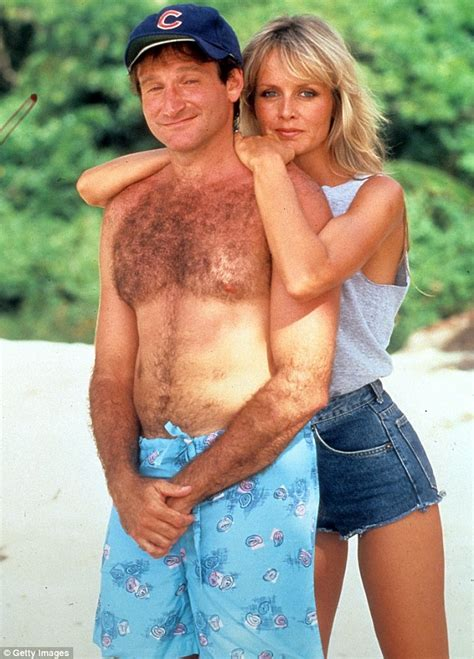 robin williams swimsuit famously hairy robin williams 62 shows off hairless