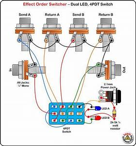 Line Selector Pedal Schematic