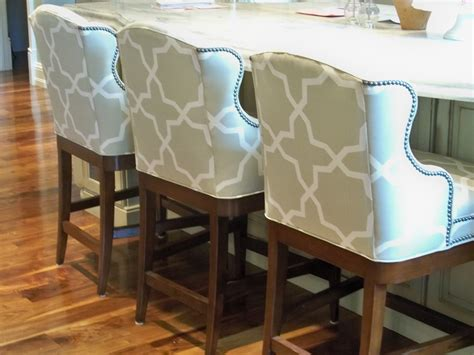 High Beige Bar Stool Fabric Ideas With Yellow Metal Legs