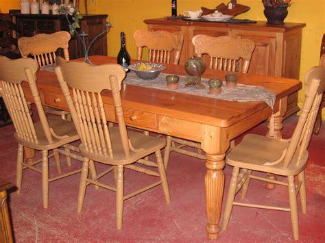 table de cuisine en pin meubles de salle à manger