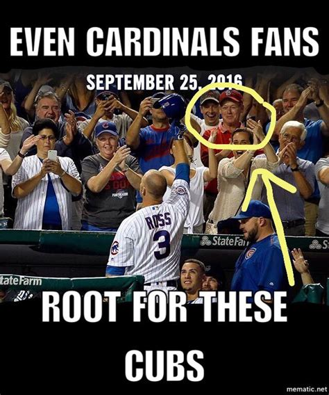 Chicago Cubs Memes - chicago cubs memes on twitter quot even cardinals fans root for this cubs team letsgo flythew