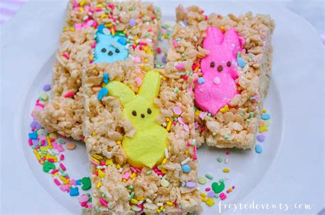 ideas for easter treats easter treats how to make rice krispies peeps treat