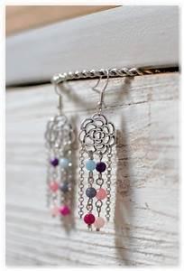 Créer Ses Propres Bijoux : boucles d 39 oreilles pendantes fleurs boh mes boucles d ~ Melissatoandfro.com Idées de Décoration