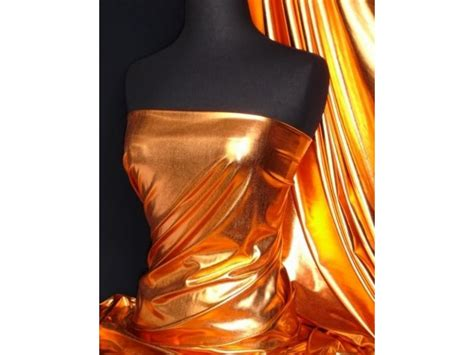 stretch foil bronze metallic foil stretch lycra fabric