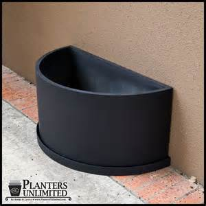 Semi Circle Outdoor Furniture by Fiberglass Half Round Planters
