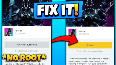 fortnite device  supported fix updated apk youtube