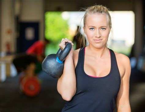 kettlebell female lifting athlete confident depositphotos burn