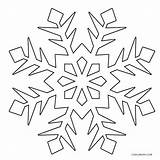 Snowflake Coloring Snowflakes Pages Printable Christmas Winter Snow Flake Frozen Template Drawing Simple Cool2bkids Sheets Print Cutouts Line Children Getdrawings sketch template
