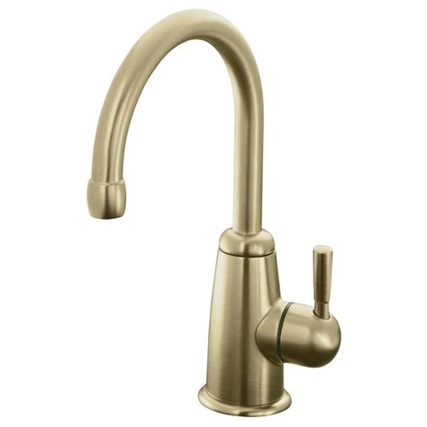 brushed bronze kitchen faucet shop kohler wellspring vibrant brushed bronze 1 handle