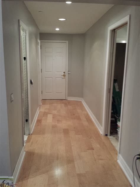 engineered maple flooring with quot dolphin fin quot gray behr