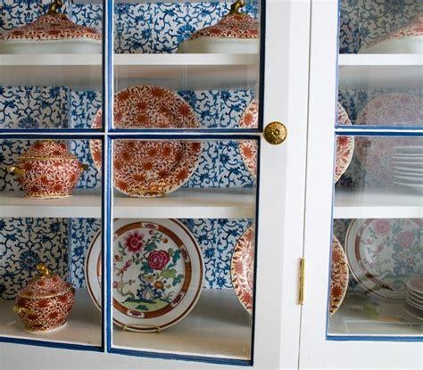 wallpaper inside kitchen cabinets design idea wallpaper in kitchen cabinets cococozy