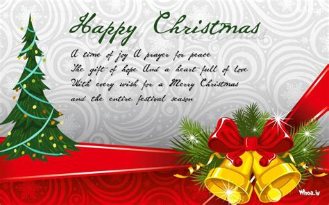 happy merry christmas greeting cards  christmas bells