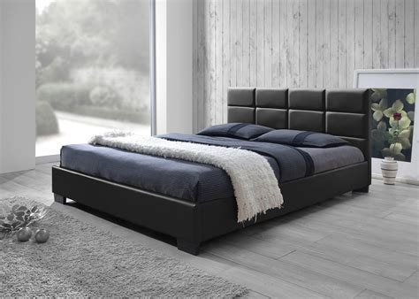 new pu leather queen size wooden bed frame ebay