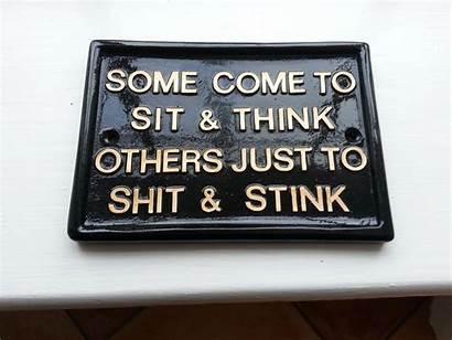 Signs Funny Toilet Bathroom Humorous Humor Plaques